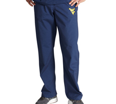 University of West Virginia Unisex College Scrub Pants 5310