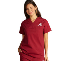University of Alabama Unisex College Scrub Top 5450