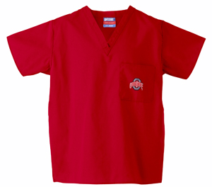 Ohio State University Red 1-Pocket Top